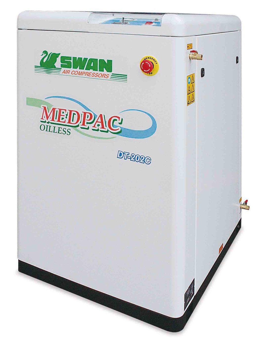 東正鐵工廠「SWAN天鵝牌」小型醫療用空壓機。 東正鐵工廠/提供