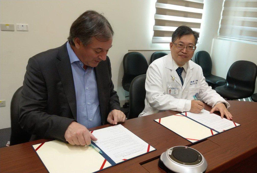 童綜合醫院與威康智能健康科技簽約合作推廣Halza健康管理應用程式。 童綜合醫院...