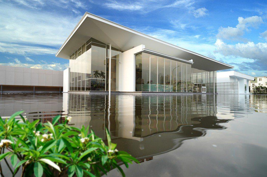 「央泱長虹」接待中心已完工,特別邀請大師郭旭原設計。