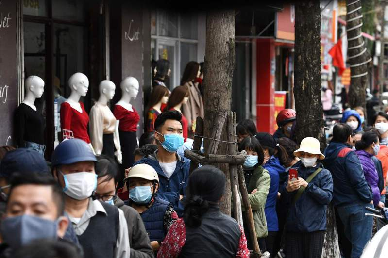 越南新冠肺炎累計有16起確診病例,至今已有14人治癒出院。圖/法新社
