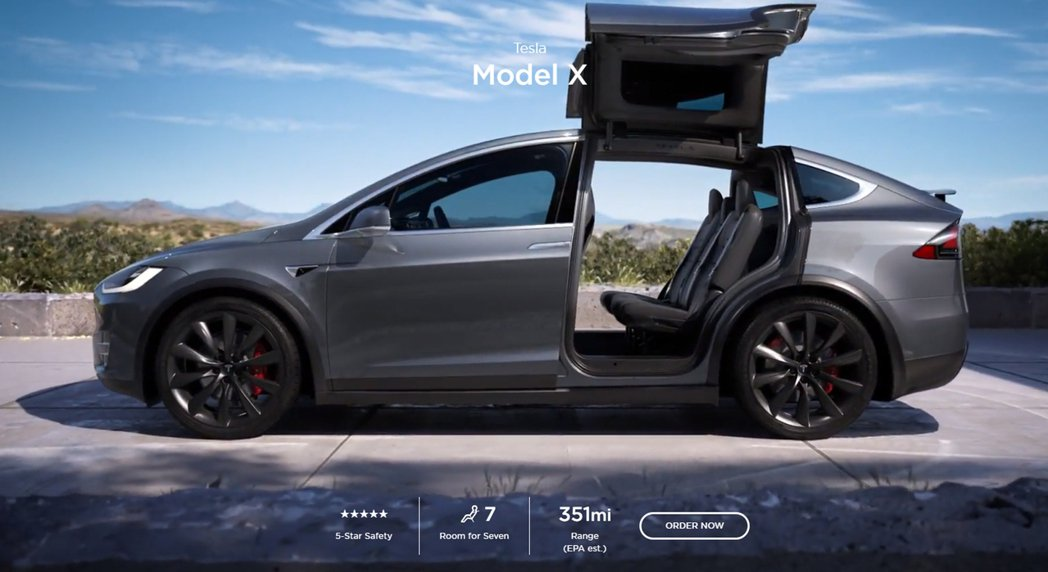 Tesla Model X Long Range Plus的預估行駛里程為351...