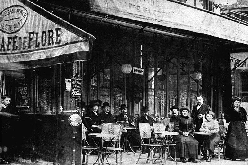 法國巴黎的「花神咖啡廳」,曾吸引不少文人、哲人、畫家前往。 圖/維基共享