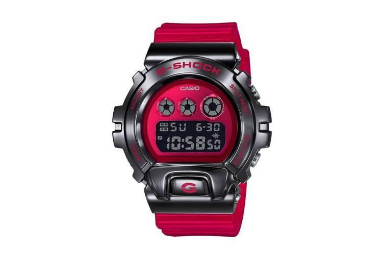 G-Shock GM-6900B系列表款,黑色電鍍精鋼表殼,價格未定。圖/摘自C...