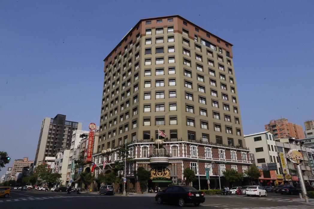 高雄老牌飯店漢王飯店。本報資料照片
