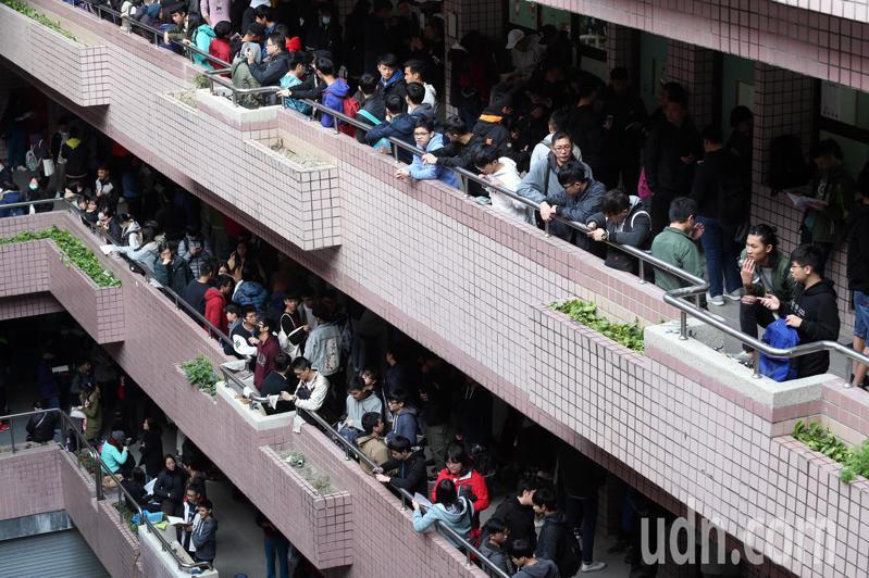 大學學測考場。本報資料照片