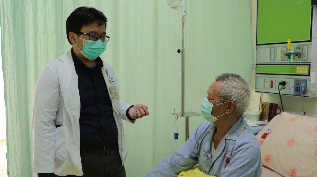 高冠鈞表示,血癌的新藥研發沈寂了20年。圖/北榮提供