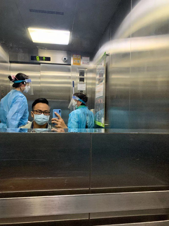 部落客威廉在網路上分享在彰化醫院負壓隔離病房的生活,大讚台灣醫療人員的用心。圖/...
