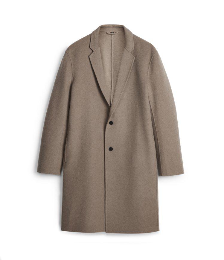 AllSaints Hanson卡其色大衣18,000元。圖/AllSaints...