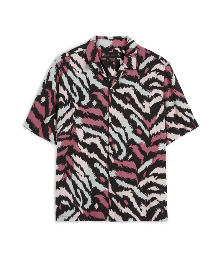 AllSaints Synth印花襯衫4,400元。圖/AllSaints提供