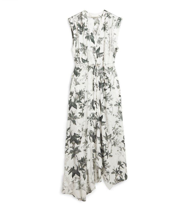 AllSaints Tate Evolution無袖印花洋裝10,200元。圖/...