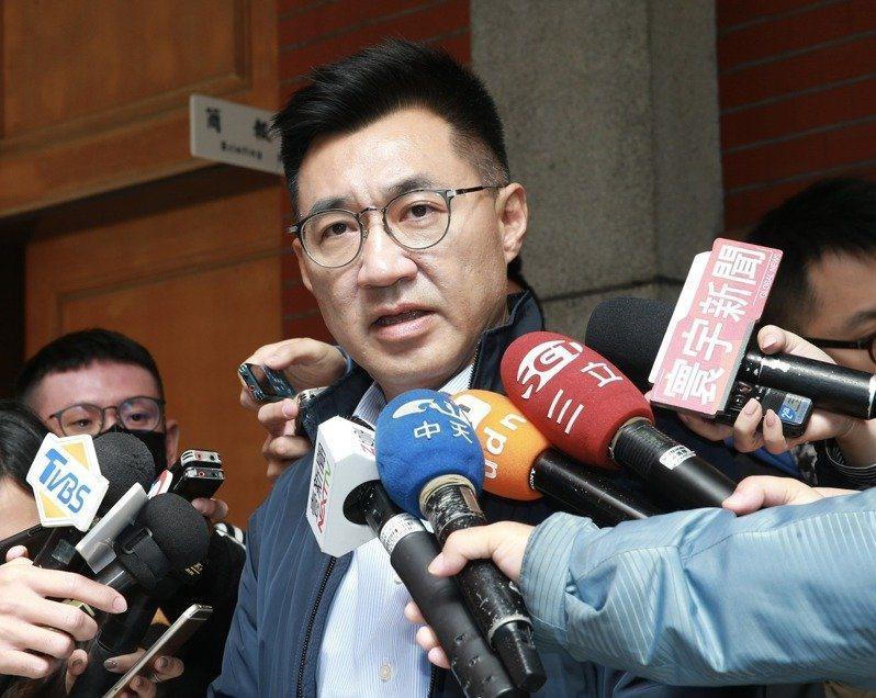 國民黨黨主席候選人江啟臣。 聯合報系資料照/記者黃義書攝影