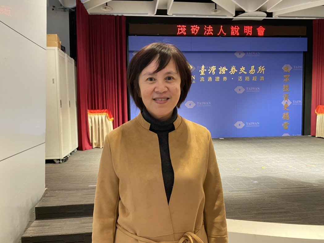 茂矽董事長唐亦仙出席法人說明會。記者李孟珊/攝影。