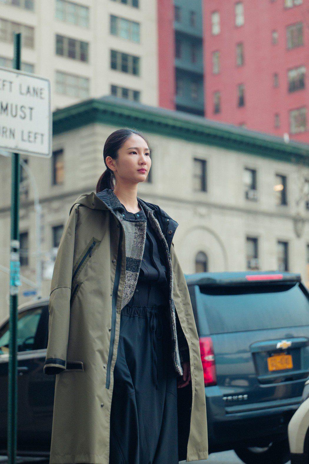 陳詠芯在紐約街頭。圖/oqLiq提供
