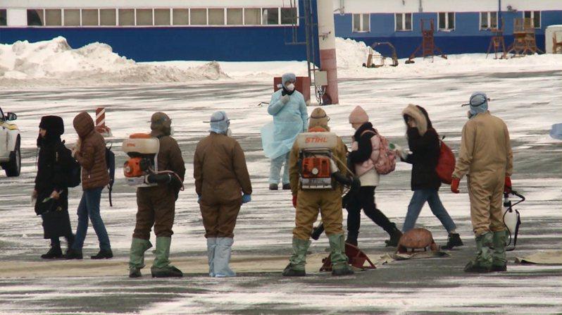 美國官員認為俄羅斯散布假新聞,圖為俄羅斯嚴防新冠肺炎。歐新社