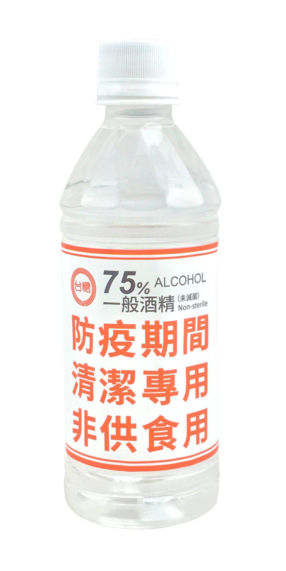 台糖酒精350ml即日起於全家便利商店開售。圖/台糖提供