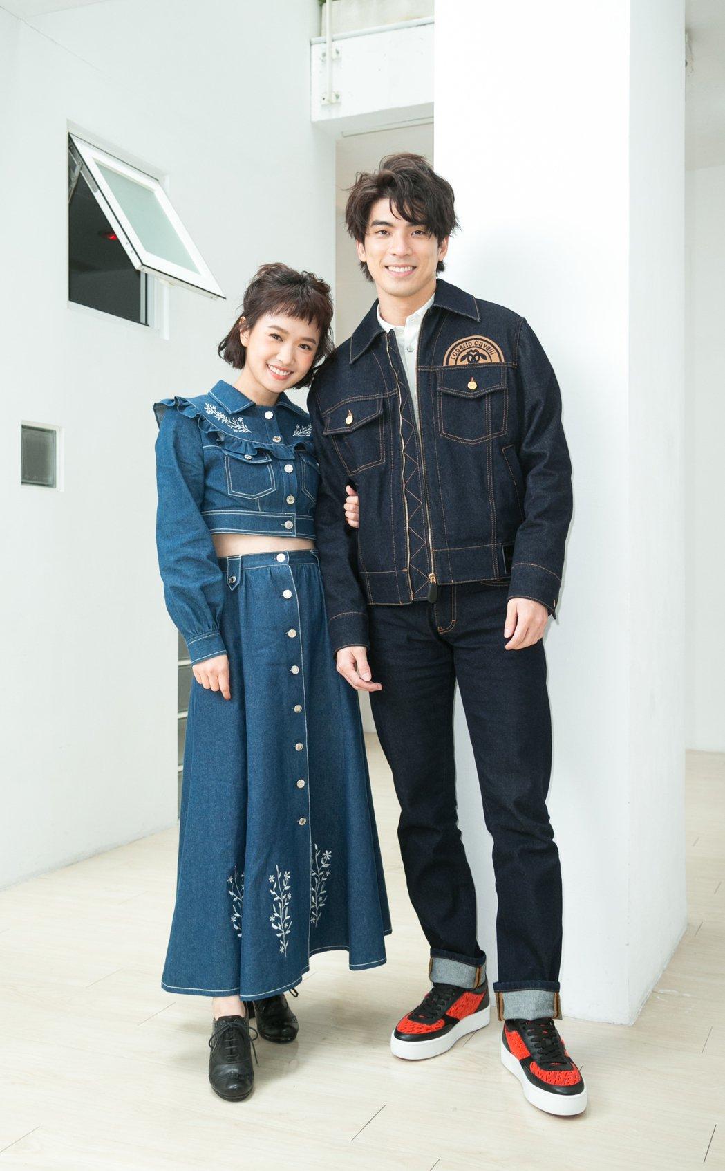 「女鬼橋」主要演員林哲熹(右)與嚴正嵐(左)。記者陳立凱/攝影