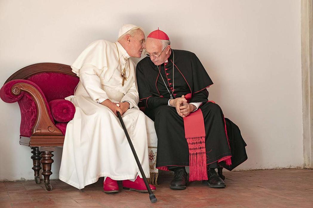 《教宗的承繼》劇照。 圖/取自IMDb