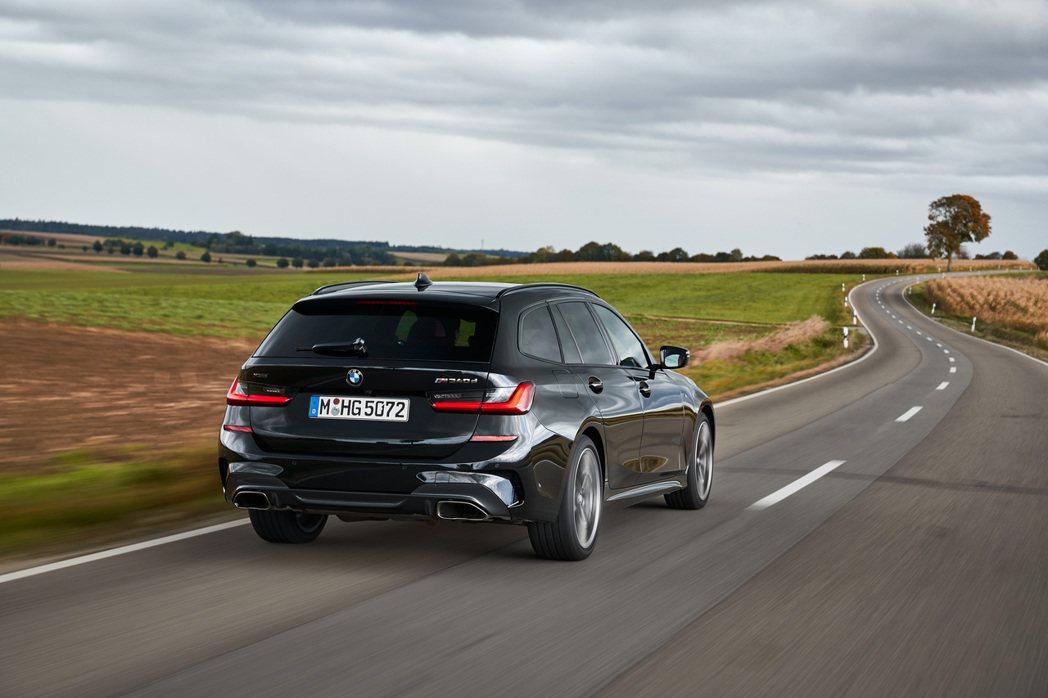 全新BMW M340d xDrive Touring。 摘自BMW