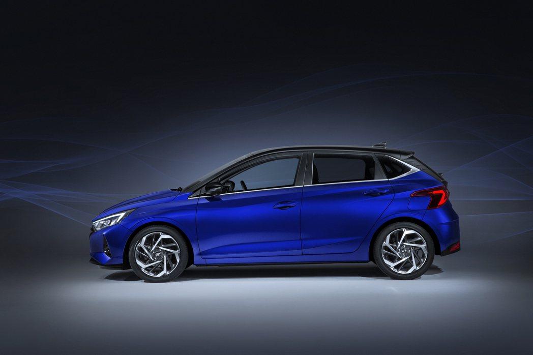 第三代Hyundai i20車長4,040mm、車寬1,750mm、車高1,45...