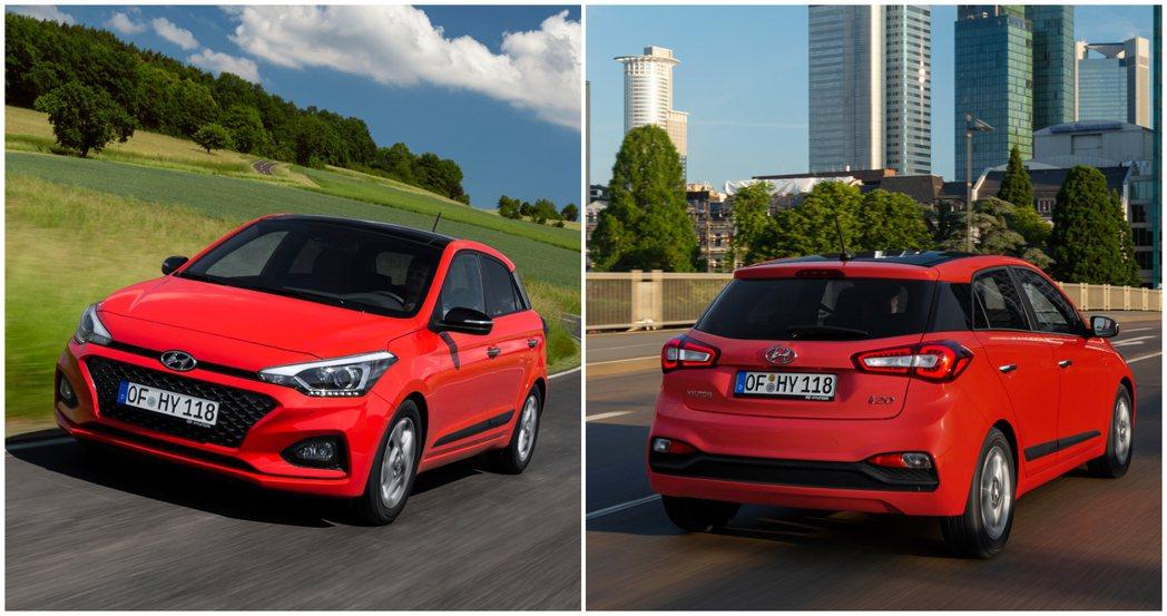 圖為現行版第二代Hyundai i20。 摘自Hyundai