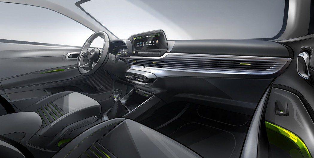 第三代Hyundai i20內裝設計草圖。 摘自Hyundai