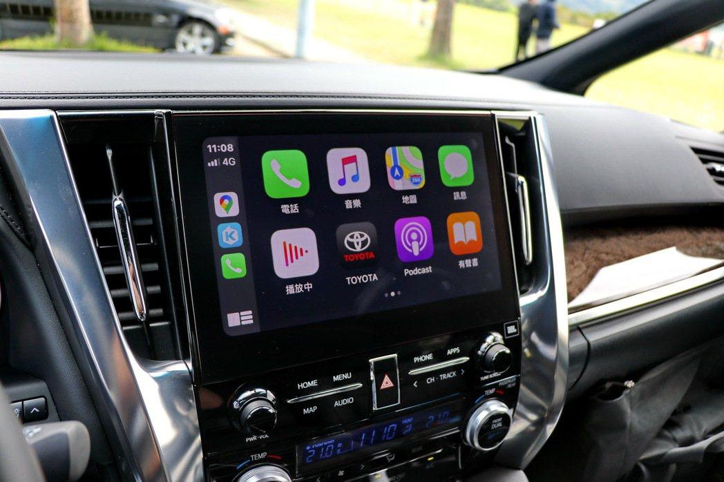 影音主機觸控顯示幕升級至10.5吋,全面支援Apple CarPlay、Andr...