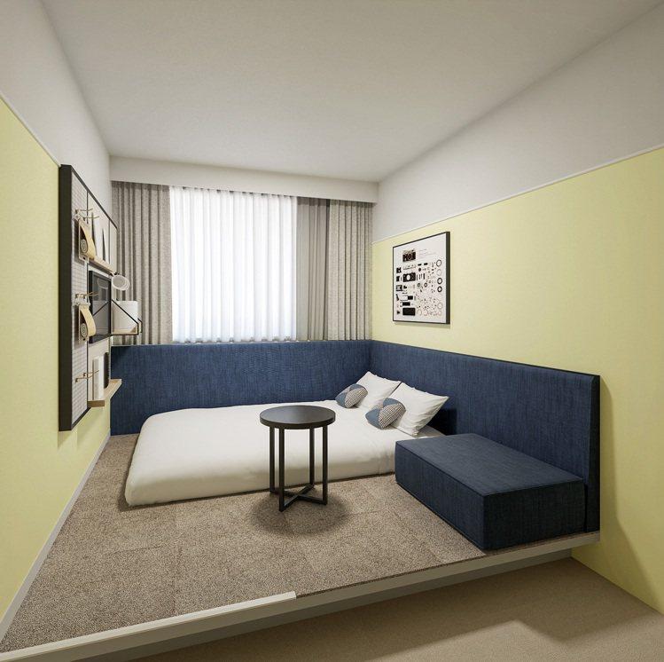 星野集團OMO3東京川崎有三種房型可選。圖/星野集團提供