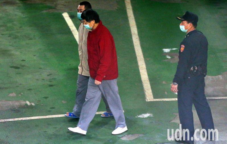 楊文虎(紅衣)。記者林俊良/攝影
