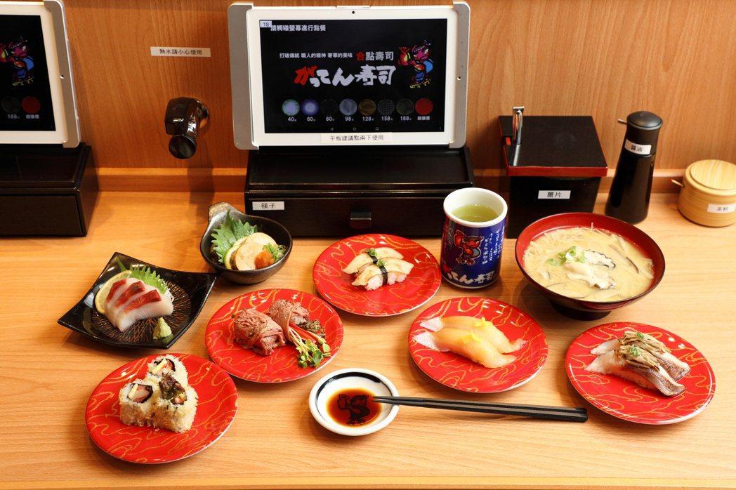 合點壽司價位帶40元至188元。圖/京站提供