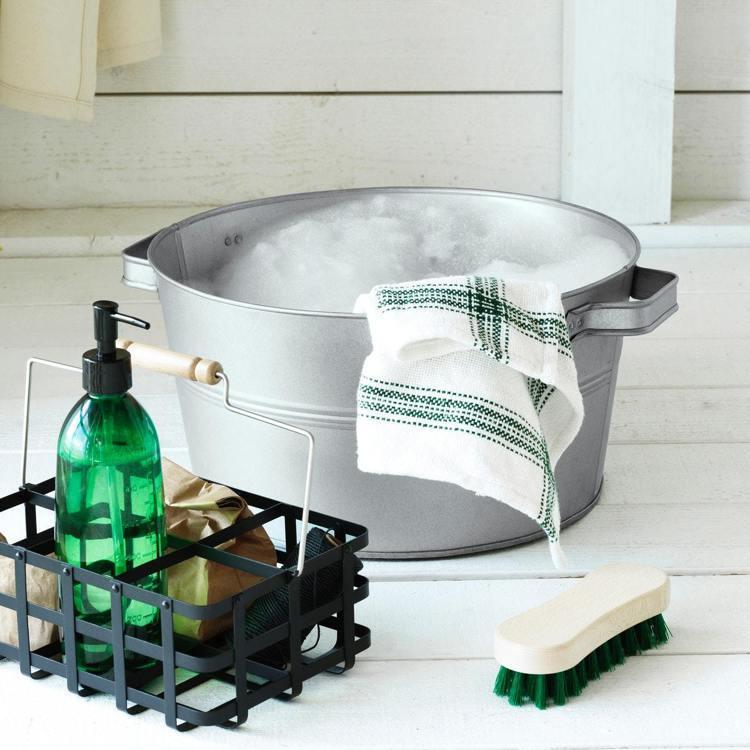 IKEA BORSTAD限量系列為清掃用具增添文青風格,打掃也能擁有好心情。圖/...