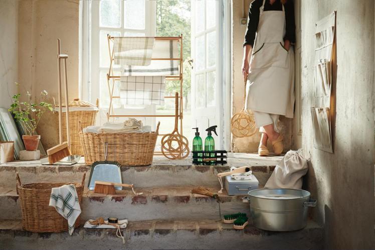 IKEA BORSTAD限量系列集結鄉村風與傳統工藝,讓清掃用具別具風格。圖/I...