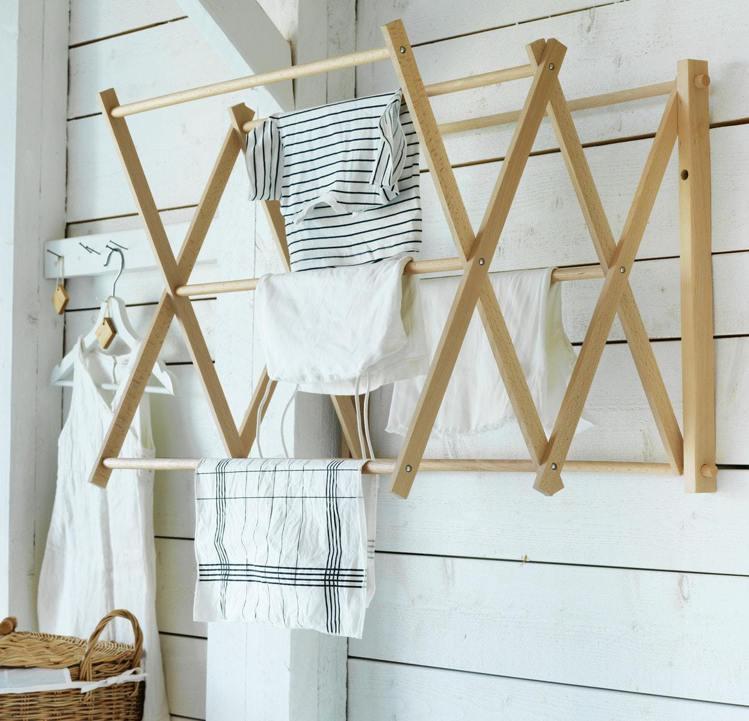 IKEA BORSTAD掛牆式晾/曬衣架,售價1,299元。圖/IKEA提供