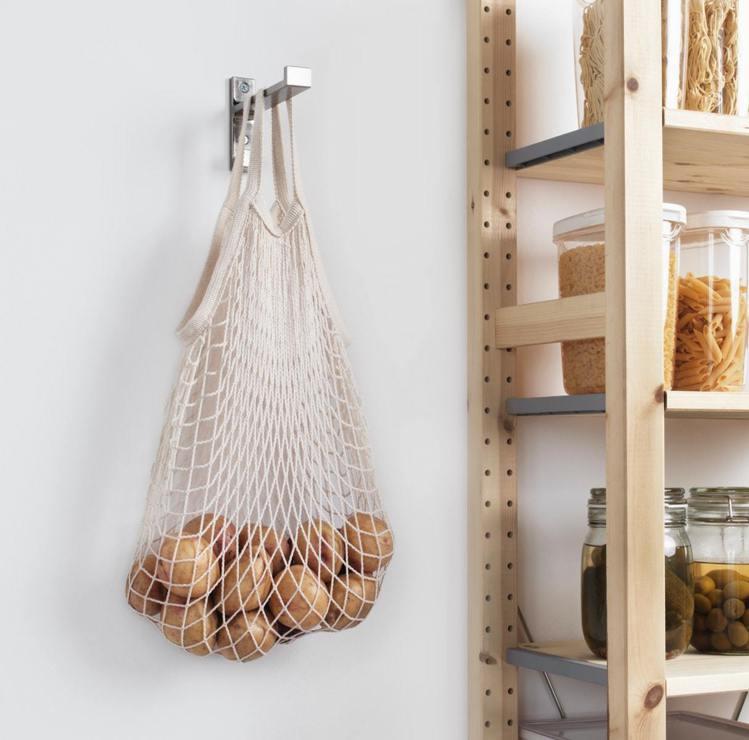 IKEA KUNGSFORS網袋2件組(自然色),售價179元。圖/IKEA提供