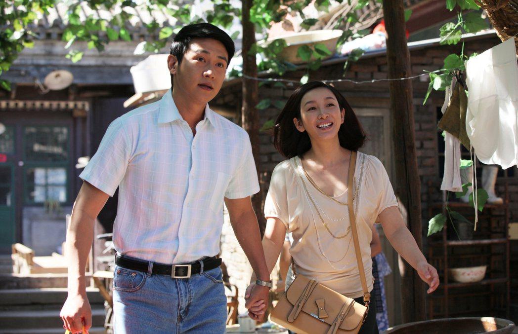 秦海璐(右)與男星陸毅在戲中飾演夫妻。圖/年代MUCH台提供