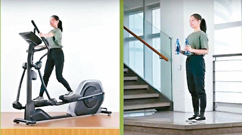 後驅橢圓運動適度運動可以增強免疫力,國健署建議做循環運動。 圖/國健署提供