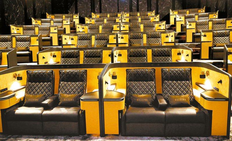信義區的高級影院,單人套票價近千元。 圖/聯合報系資料照片