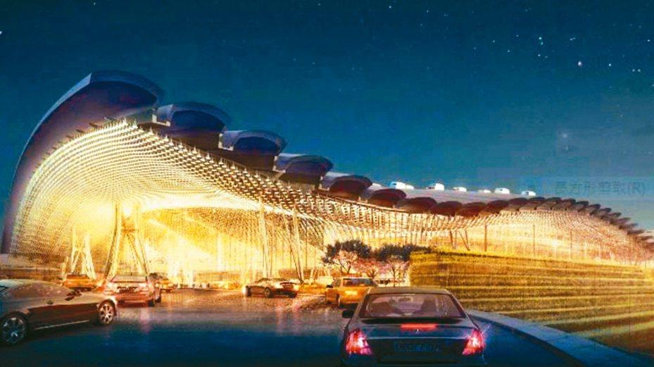 桃機三航廈設計示意圖。 圖/取自桃機官網