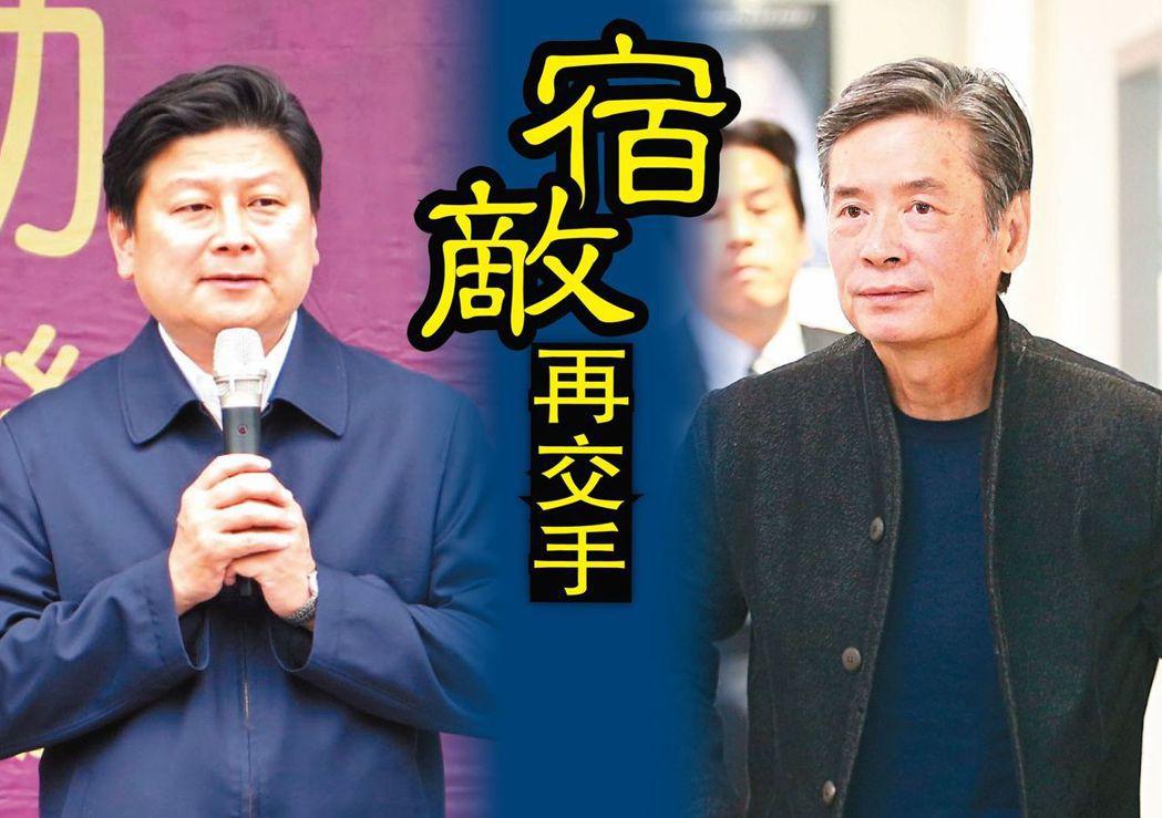 金溥聰(右)為什麼反對傅崐萁恢復黨籍?很可能是對派系不滿。圖/聯合報系資料照片