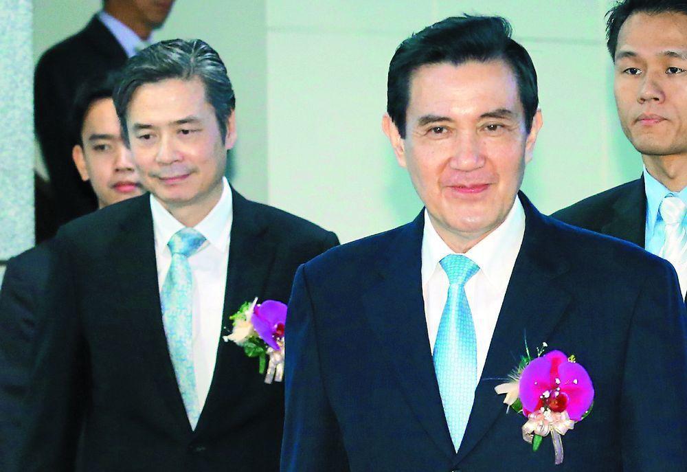 馬英九(右)與金溥聰。圖/聯合報系資料照片