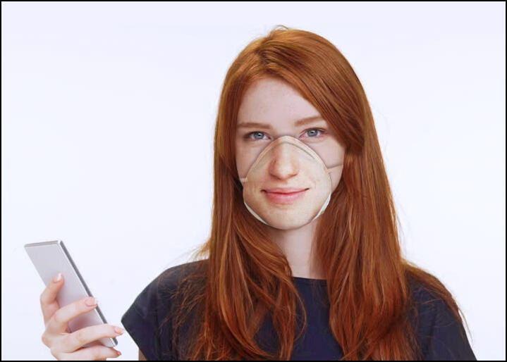 美國設計師Danielle Baskin設計出「Face ID compatible respirator masks」。(官方網站)