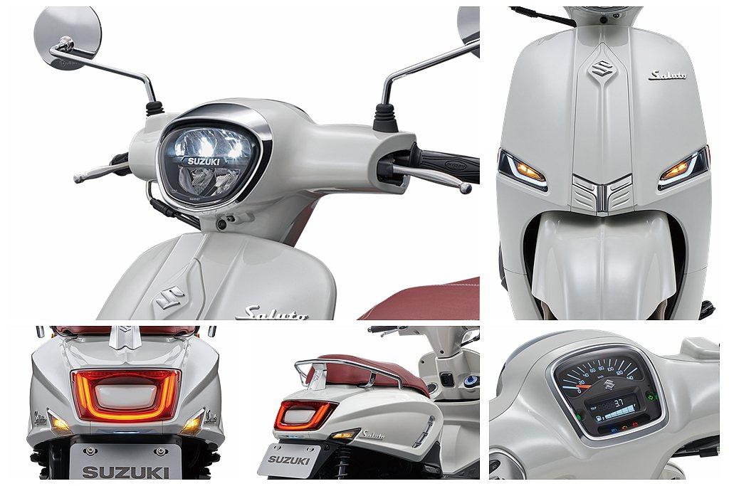 Suzuki Saluto 125擁有7大經典義式典雅設計,包括斜板到尾部採對稱...