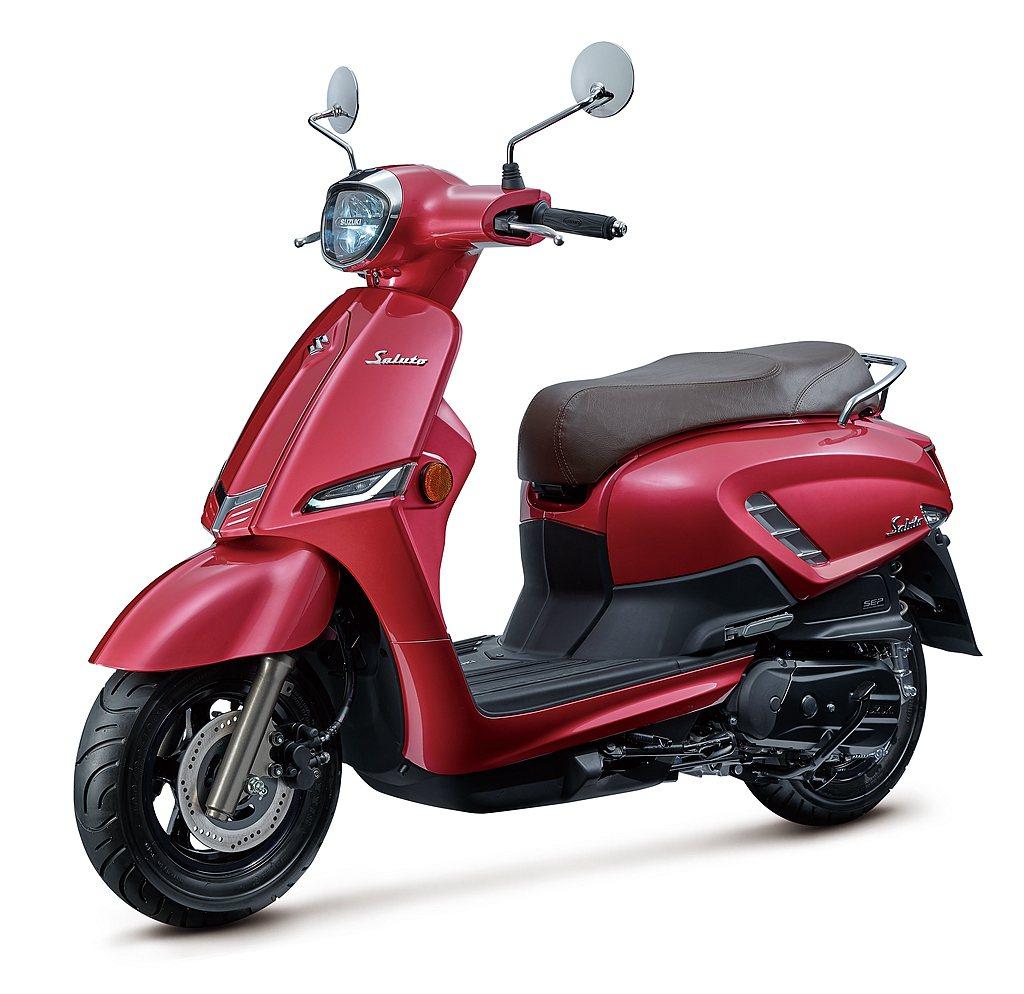 Suzuki Saluto 125推出米蘭白、托斯卡尼灰、翡冷翠綠、威尼斯紅、西...