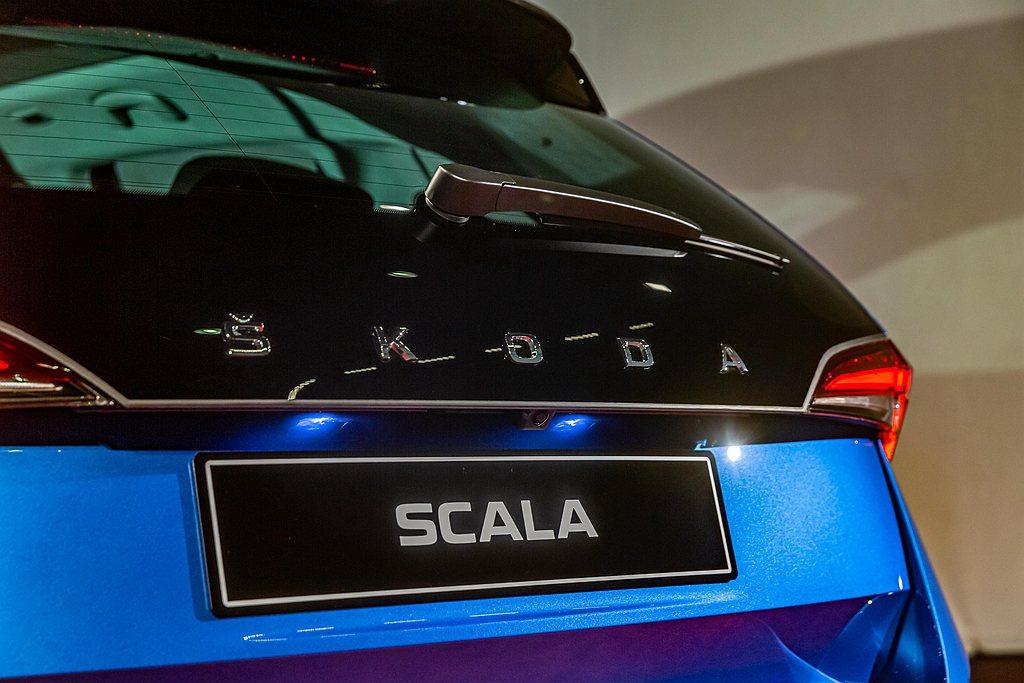 Scala是第一款以英文字母取代品牌Logo圖騰的第一款新車,。 圖/Skoda...