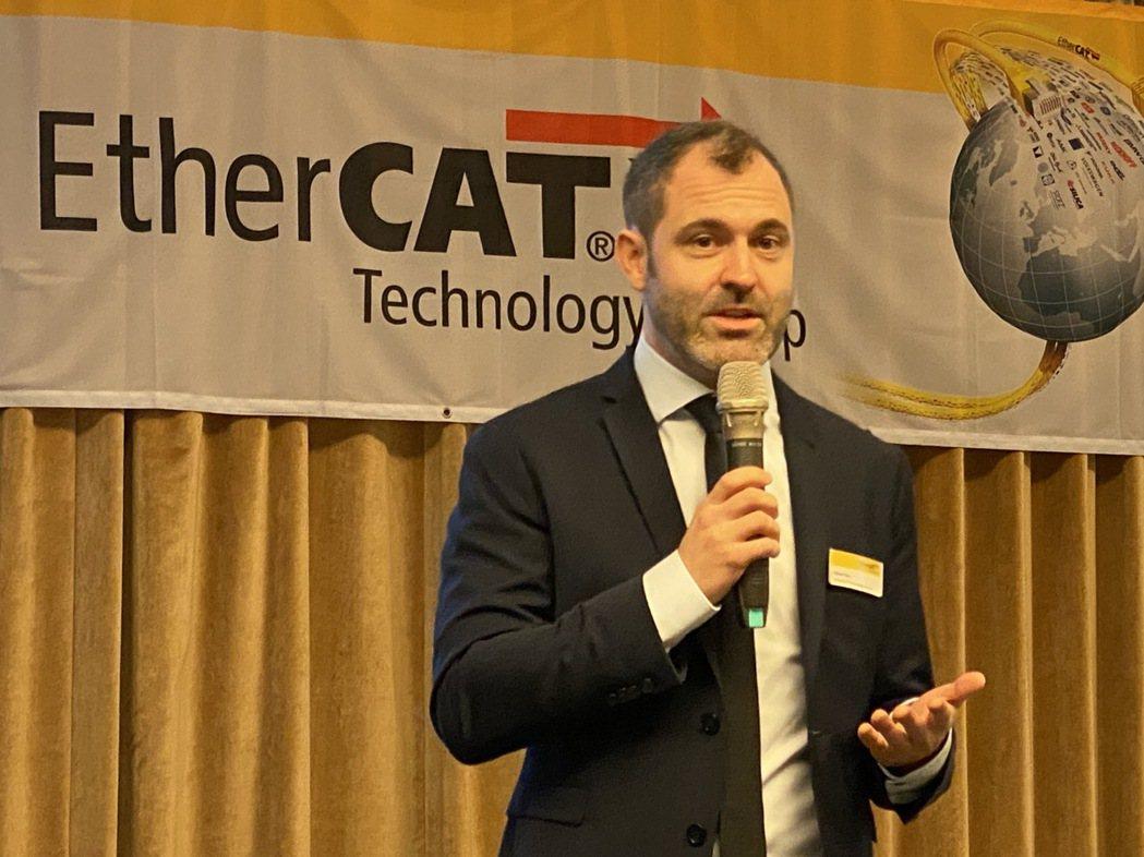 EtherCAT團隊乙太網技術行銷專家Oliver  Fels。 吳青常/攝影
