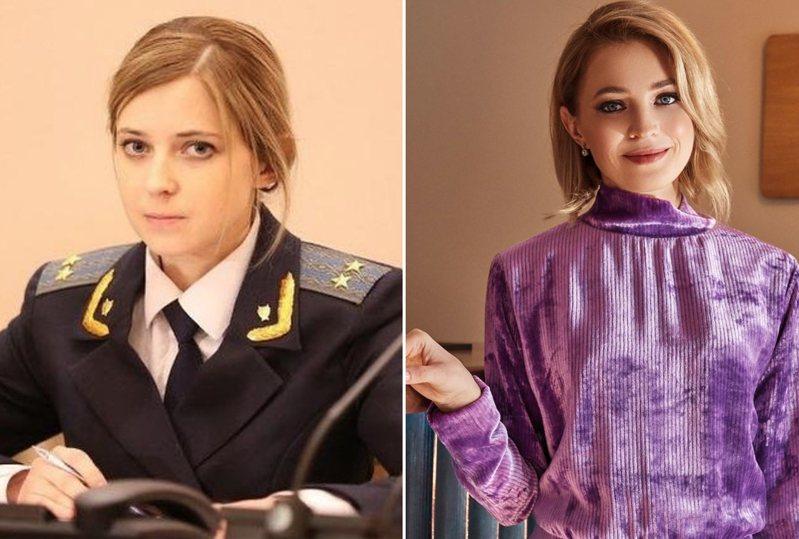 娜塔莉亞過去因為清秀的臉龐爆紅(左),近期展露出成熟美(右)。圖/Instagram