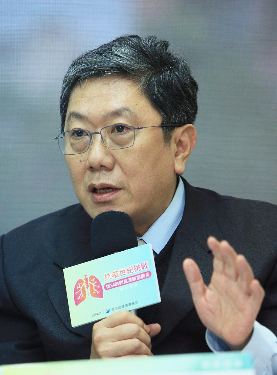 聯合報系舉行「抗疫世紀挑戰─從SARS到新冠肺炎」專家會議,台灣兒童感染症醫學會理事長李秉穎以「預防社區感染可能出現的漏洞」為題,對民眾提出呼籲。記者潘俊宏/攝影
