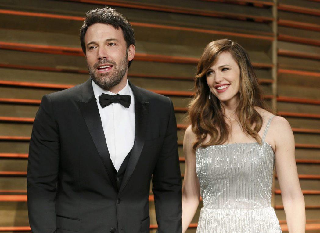 班艾佛列克與珍妮佛嘉納曾是好萊塢明星夫妻。圖/路透資料照片