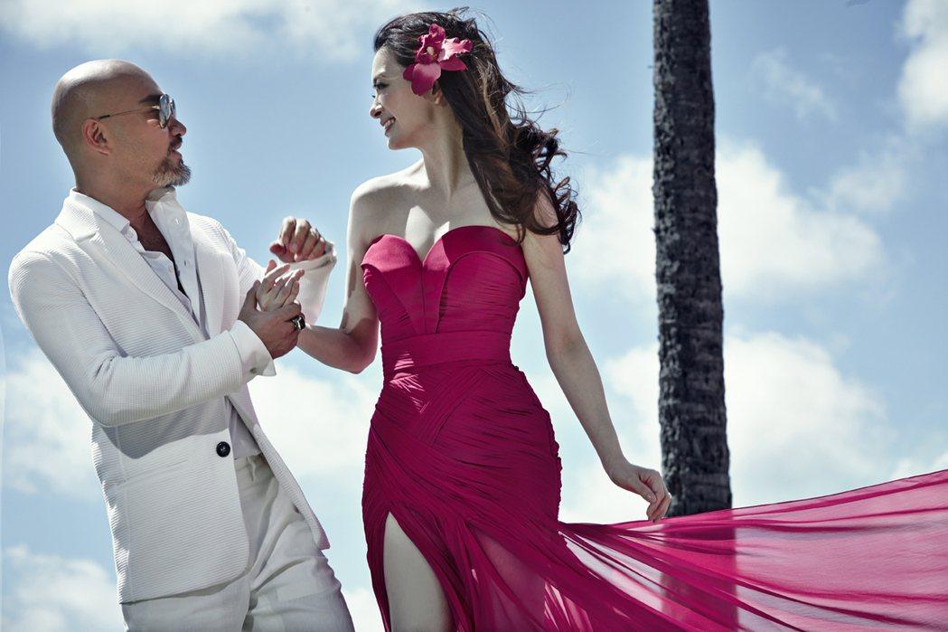 辛龍愛劉真,天下盡知,6年前在夏威夷辦了這場豪華婚禮,羨慕許多人。圖/金牌大風提