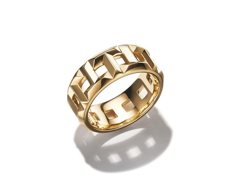 Tiffany T True 8mm 18K金戒指,71,000。圖/Tiffa...