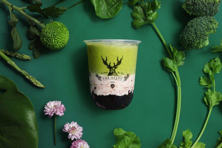 抹茶紫米酸奶。圖/鹿角巷提供